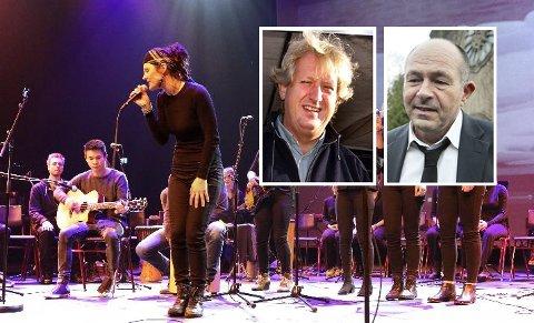 Pål Runsjø og Olav Bødtker-Næss mener lærerstudenter gjennom konsertproduksjon kan bidra til formidling av mange viktige temaer.