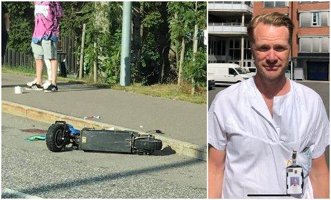 Seksjonsoverlege ved ortopedisk avdeling på Sykehuset i Vestfold, Kim Markus Hemlock, forteller at de også nå merker en økende trend med skader etter elsparkesykkel-ulykker.