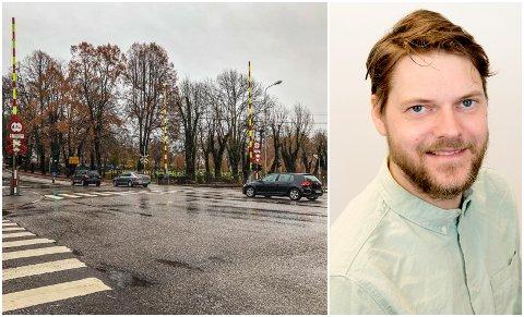 Planovergangen i Tønsberg er én av landets mest utsatte. Pål Buset i Bane Nor er redd det kan smelle her – og andre steder i landet – i sommer.
