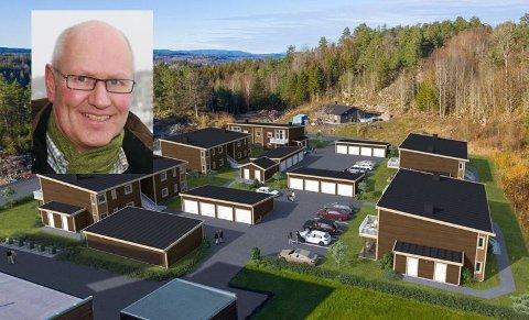 BOLIGPROSJEKT: Arnfinn H. Sørhaug, eiendomsmegler i Z-eiendom i Tønsberg mener du får mye for pengene hvis du sikter deg inn på en av disse leilighetene i Skjeggestadåsen.