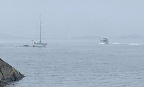 Tåka ligger tett over Buskjærfjorden torsdag formiddag. Foto: Skibsaksjeselskapet Hesvik