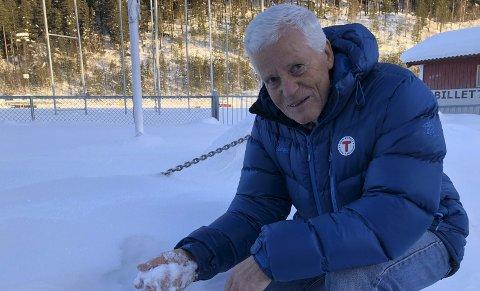 Snø: Tormod Dahlen er styreleder i Leirin Skiløyper AS og roper nå et varsku om at mer penger må inn til løypelaget skal de klare å opprettholde det store løypenettet med samme gode kvalitet.