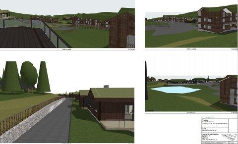 Slik ser utbygger for seg de 131 leilighetene og hyttene som er planlagt bygd i blokk og rekke.
