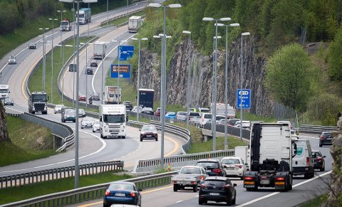 TRAFIKALE PROBLEMER: På grunn av hendelsen, er det utfordringer med trafikkflyten.