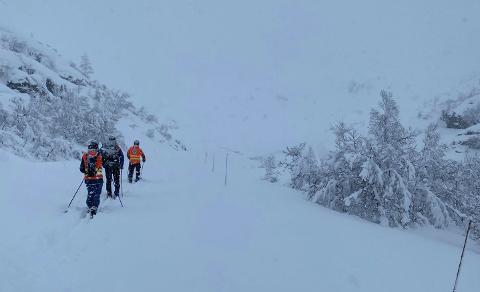 STOR ØVELSE: Speidernes beredskapsgruppe sør-vest er i helgen på Ådneram. I morgen er det stor snøskredøvelse.