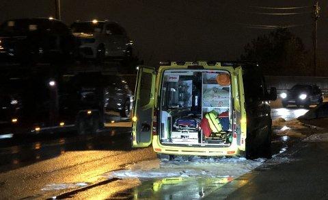 Ambulanse stod i brann på Riksvei 4 mellom Grorud og Stovner