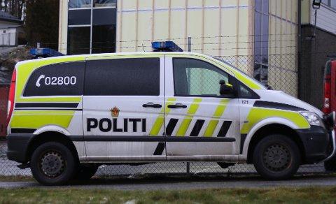Politiet på ulykkesstaden.