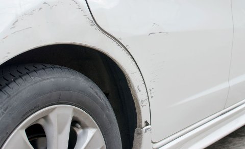 Scratches on car