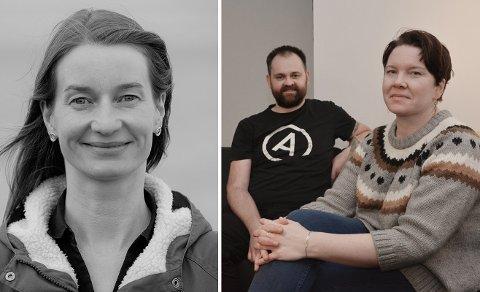 Inger Lise Næss, og vennene Arne Bergdal og Stine Eidissen Bya i Bodø.