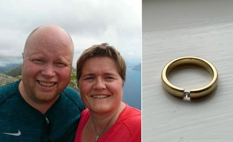 ATTFUNNEN: Kjersti Solhaug gav raskt opp håpet om å få att gifteringen sin. Turen var for lang, og terrenget hadde for mange «gøymeplassar». Trudde ho...
