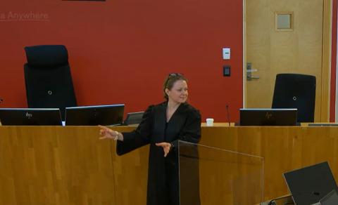 Politiadvokat Marte Sofie Kjellesvig fører saken på vegne av politiet. Tirsdag hadde hun en rekke vitner på plass digitalt.