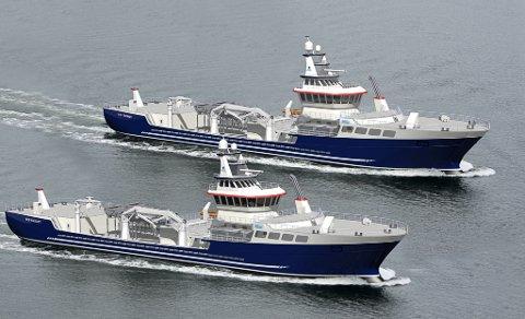 Slik ser dei ut - brønnbåtane som Artic Shipping skal levere.