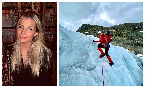 FLYTTA: Helga Fjellstad Holt har flytta frå Austlandet til Vestlandet for å vere nær isbreeane.
