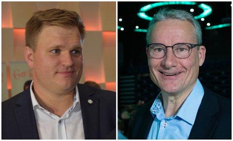 KONTROLLTELJING: I skrivande stund har Olve Grotle (H) styrka seg i kampen om eine stortingsmandatet. No er han 299 stemmer framføre Aleksander Øren Heen (Sp).