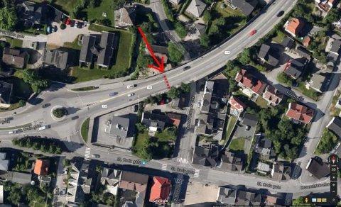 Arbeidet pågår fra 11. - 16. april, mellom klokken 18.00 og 06.00 på riksvei 110 over Bydalsveien, mellom rundkjøringen ved Lislebyveien og Fredrikstadbrua.