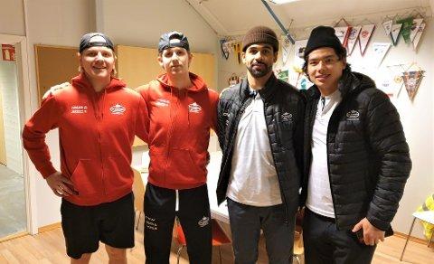Andreas Heier (fra venstre), Jørgen Hanneborg, Travis Brown og Tim McGauley leverte alle en solid kamp mot Narvik. Stjernen har nå tre strake seire.