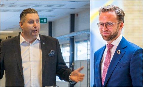 HADDE MØTE: Narvik-ordfører Rune Edvardsen møtte kommunalminister Nikolai Astrup onsdag formiddag.