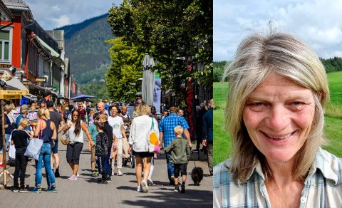BEKYMRET FOR LILLEHAMMER: Guro Sveberg har hytte på Nordseter. Hun etterlyser flere aktiviteter i Lillehammer.  - Vi måtte reise hjem til Hamar for å gå på konsert, sier hun.