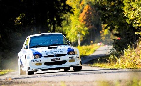 TRØBBEL: Lars Morten Berntsen fra NMK Hadeland hadde trøbbel med bilen og ble «bare» nummer fire i bakke-NM.