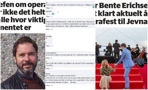 FOR OG IMOT: Mange ønsker at Operafest skal bli værende i Gran, mens andre kommer ikke til å savne den om den flyttes til Jevnaker.