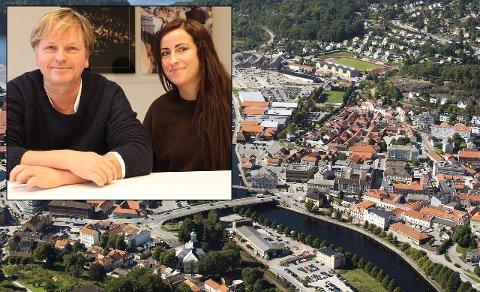 ENTUSIASTISKE: Ole Evenrud og Heidi Ottesen Sandmo gleder seg til å samarbeid med Monster om en storproduksjon av en ny dramaserie i Halden.
