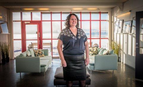 FLOTT UTSIKT: Syvlia Brustad har flyttet inn i fellesskapet Mjøskanten på Espern.