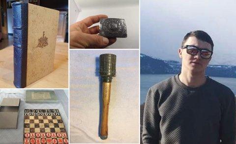 SAMLER: Artūras Dambrauskas har siden han var liten hatt en stor interesse for å samle på ulike gjenstander fra 2. verdenskrig. Nå selger han unna deler av samlingen.