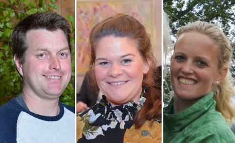 ARBEIDSGRUPPA: Morten Moland, Anne Mette Bufjell Humlestad (i midten) og Kristine Støen Kivle har hatt hovedansvaret med å utarbeide Senterpartiets forslag.