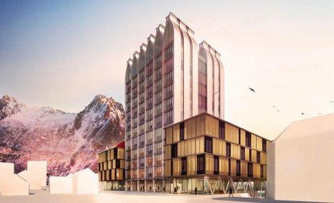Hotell: Slik ser arkitektfirmaet for seg hotellet i Vestfjordgata.