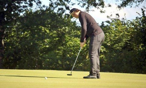 Til topps: Moss & Rygge Golfklubbs Jørgen Winther Johansen lover godt foran inngangen til profflivet, og vant den siste turneringen i Spania. Foto: Joakim Bekkåsen