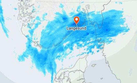 Det varslede snøværet kom ikke til mossedistriktet denne gangen. Til helgen kanskje....