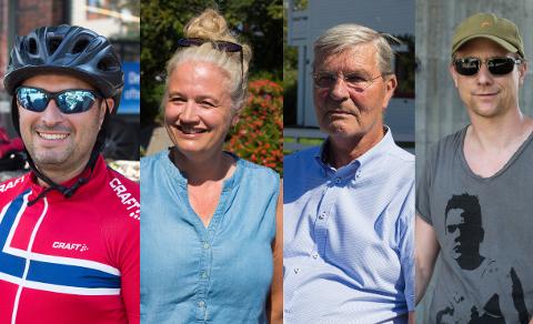 VARMT: Fem Nordstrandsfolk har svart på spørsmål om varmen.