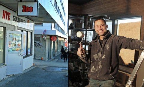 NYTT STED: I de gamle lokalene til Gullfisken Zoo skal det om noen uker åpne en ny restaurant. Saber Azaouzi er i gang med oppussingen.