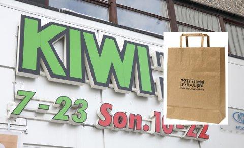 NY LANSERING: Kiwi lanserer nye papirposer i butikkene. (Montasje)