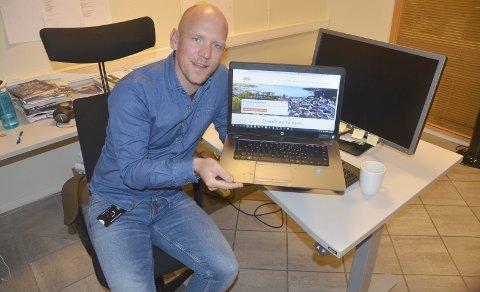 Redaktør: Kommunikasjonsrådgiver Nils Fredrik Lysebo er ansvarlig for kommunens nye nettside. Foto: Bjørn-Tore Sandbrekkene