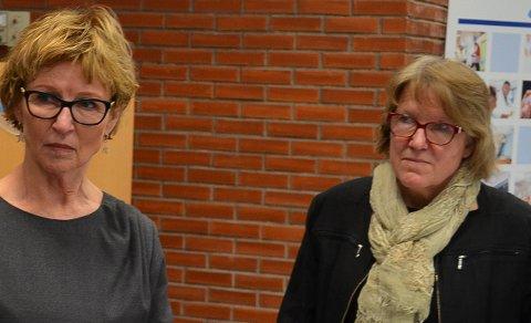 I BEREDSKAP: Styreleder Toril B. Ressem (til venstre) og administrerende direktør Alice Beathe Andersgaard er opptatt av at Sykehuset Innlandet skal være så godt forberedt som mulig på en økning i koronasmitten.
