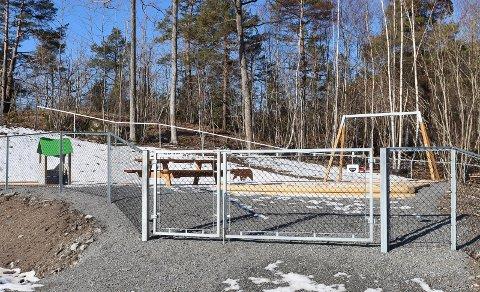 – IKKE OFTE: – Det er ikke veldig ofte vi opplever at lekeplassen er det første som blir bygget i et nytt boligområde, sier Lars Christensen i PBBL.