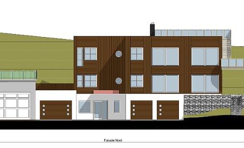 Slik har arkitekt og entreprenør planlagt å bygge tilbygg/garasjer sammen, men kommunen sier nei.