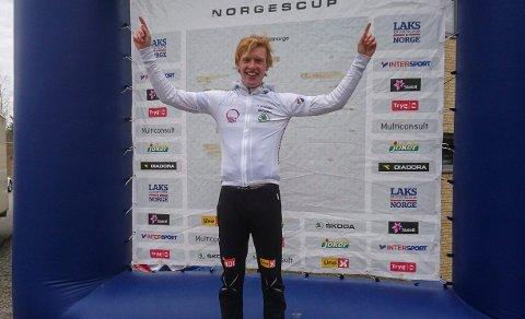 Andreas Leknessund var en av tre ringeriksgutter i seniorklassen som kunne juble over et overraskende NM-gull i Sandefjord.