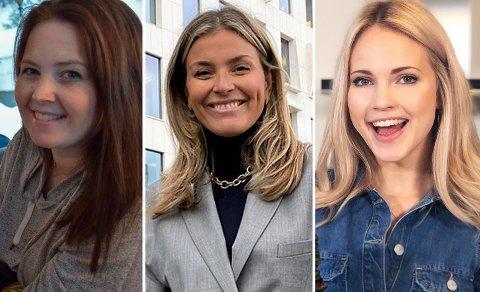 LOKALE INFLUENCERE: Nina Maaø-Ruden (34), Janka Polliani (41) og Emilie Nereng (24) er finalister i Vixen Awards.