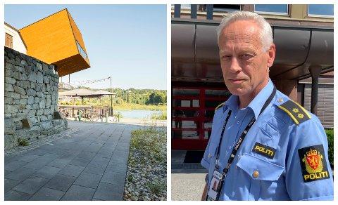 ETTERFORSKER VOLDSSAK: Bent Øye og hønefosspolitiet etterforsker hendelsen under bybrua i Hønefoss.