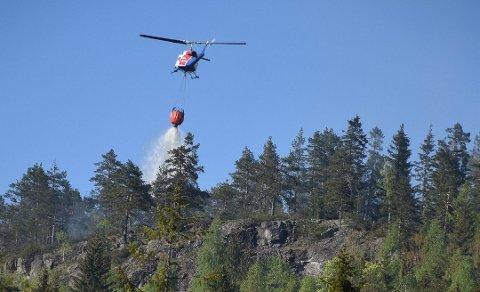 BISTÅR: Helikopterne som vanligvis er stasjonert på Torp er i Nissedal.