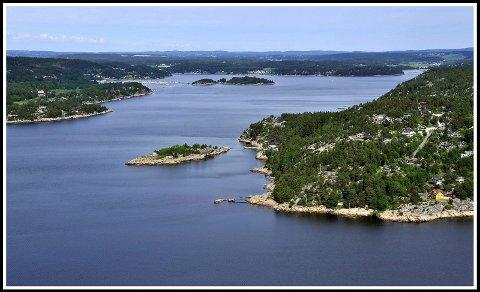 Sommerparadis: I dette området hjar mange sarpigner sitt sommerparadis. Sjebergkilen er en perle i Østfold-sljærgården.