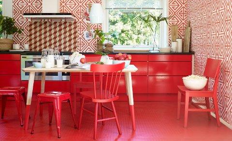 Rødt trigger følelser og kreativitet. Et rødt rom kan oppfattes som romantisk, spennende og gøyalt.