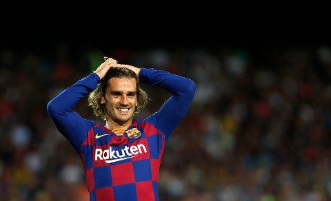 Vi tror at FC Barcelona og Antoine Griezmann vinner i serieåpningen. (AP Photo/Joan Monfort)