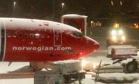 Hvis forsinkelsen skyldes uvær, har du trolig ikke krav på erstatning. Verken Norwegian (bildet) eller andre flyselskap er nevnt ved navn i Dagsavisens artikkel om flypassasjerers krav på erstatning. Illustrasjonfoto