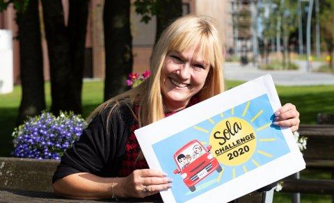 Flyt-leder Anne Grethe Vasbø håper mange blir med på Sola Challenge neste lørdag.
