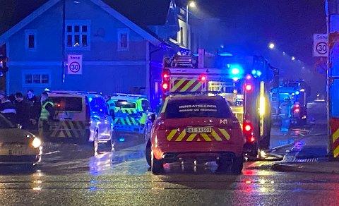 STARTET BRANNEN: En kvinnelig beboer er siktet for skadeverk etter at det oppsto brann i en bygård i Lundegata i Skien sent mandag kveld.