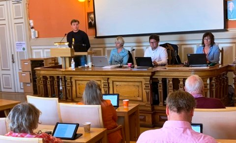 LEDET AN: Nikolai Ravlum (Arbeiderpartiet) var en av de toneangivende i debatten om fyrverkeri.