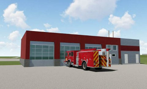 NY STASJON: Det skal bygges ny brannstasjon i Kviteseid.